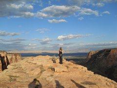 Rock Climbing Photo: Proof Brenda made it to the summit!