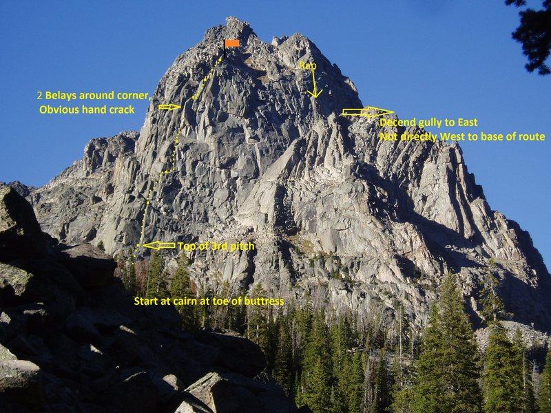 Rock Climbing Photo: Centennial Route