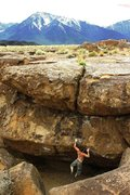 Rock Climbing Photo: Anthony working out the crux mono/two finger pocke...
