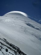 Rock Climbing Photo: A lenticular cloud formed briefly during our Jan 2...