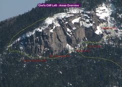 Rock Climbing Photo: Owls Cliff Left - Overview of Areas