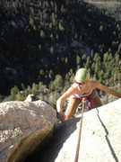 """Rock Climbing Photo: top of the 5.7 offwidth: """"dyno for the chicke..."""