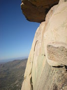 Rock Climbing Photo: great view of the splitter third pitch (and wild h...
