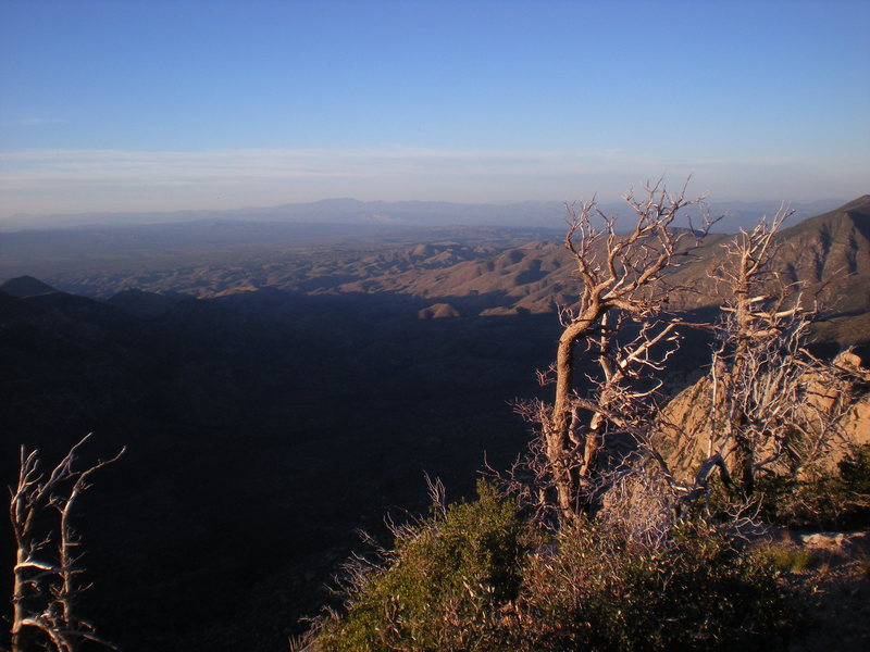 Rock Climbing Photo: the view north from camp, near sunset