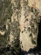 Rock Climbing Photo: warm and free from an odd angle, taken from high o...
