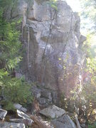 Rock Climbing Photo: Follow just right of the foilage on the pictures l...