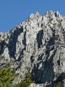Rock Climbing Photo: The view of the cliffs from the Eagle Lake Trail o...