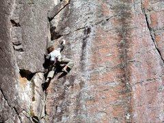 Rock Climbing Photo: Adam cruising the crux