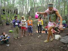 Rock Climbing Photo: Ben Johnson, in costume, for the slackline contest...