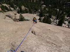Rock Climbing Photo: On the slab portion of Connections.