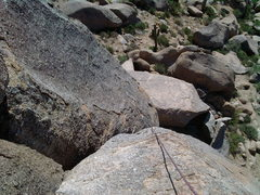 Rock Climbing Photo: This view looks down to the top of the first off-w...