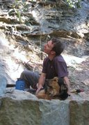 Rock Climbing Photo: Stan and Kona watching Eckhard climb at Red River ...