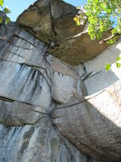 "Rock Climbing Photo: Looking up at Dave Quinn's  ""Wise Owl"" 1..."
