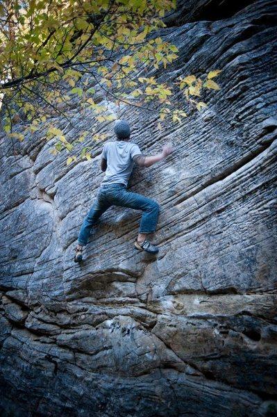 Rock Climbing Photo: The Slab - V6  Photo Credit: Brad Shorb