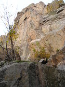 Rock Climbing Photo: Follow rope on left side, short route but tough, s...