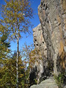 Rock Climbing Photo: View of section, overhanging tough routes.