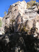 Rock Climbing Photo: Route slightly to the left of the rope.