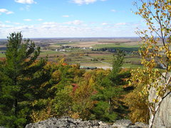 Rock Climbing Photo: View from top of Bonnie Wall looking down at the s...