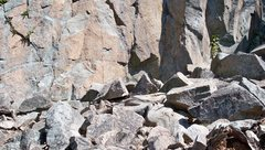 Rock Climbing Photo: Typical rock crud on ground on the Main Wall secti...