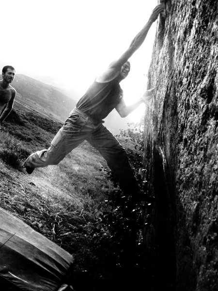 Rock Climbing Photo: Alec Solimeo on Atomic Tick Fever, V7, at the 4th ...