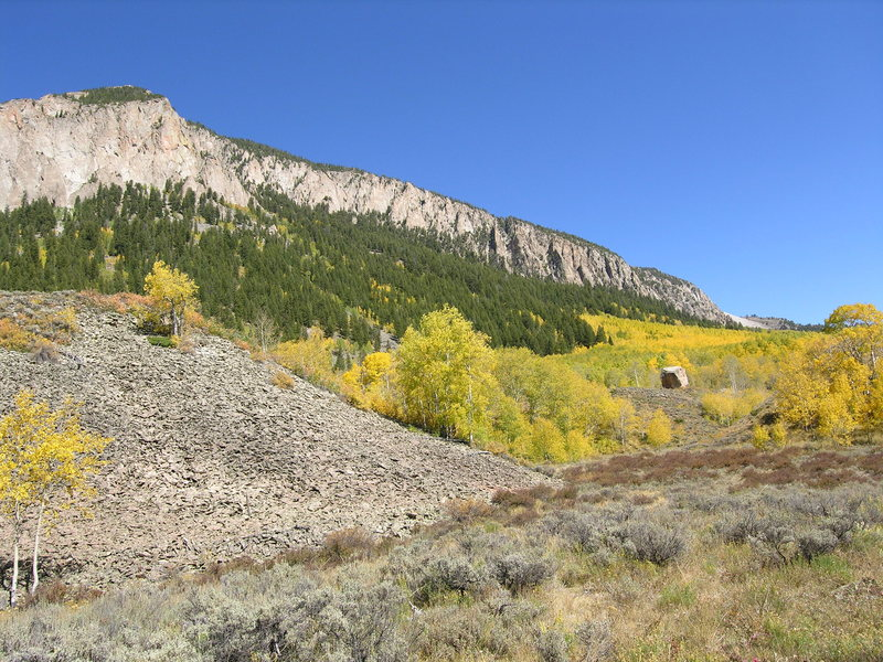 Skyland in the fall, photo taken from Tony's Trail. Shown here is Joint Rock.