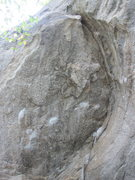 Rock Climbing Photo: Use the large flakes and arching crack to gain the...