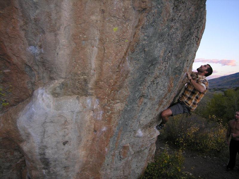 Rock Climbing Photo: Climber on Escape Hatch.