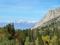 Rock Climbing Photo: Cardinal Pinnacle and the White Mountains, Lake Sa...