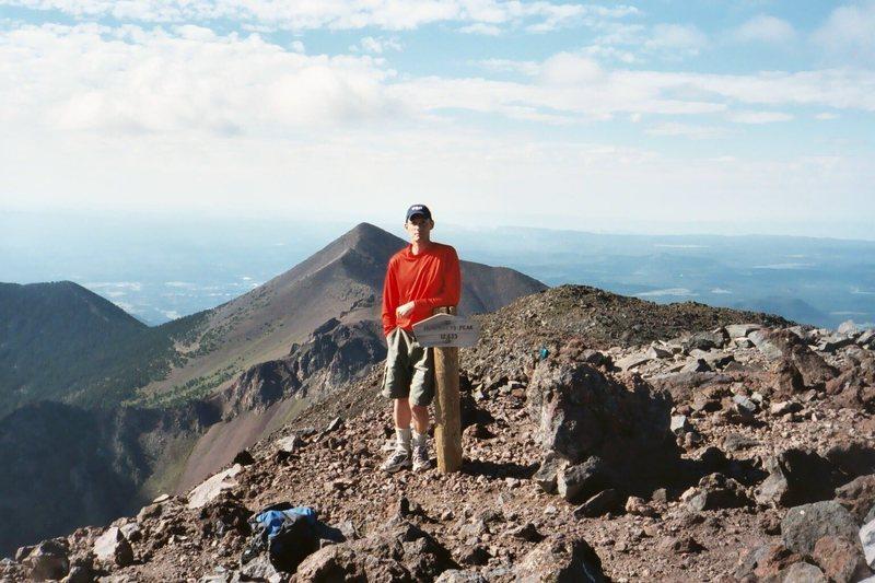 Rock Climbing Photo: Summit of Humphrey's Peak, Mt. Agassiz in the back...