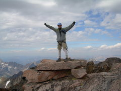 Rock Climbing Photo: Standing atop Granite Peak's summit block