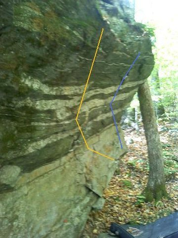 Rock Climbing Photo: Orange - Home For The Heartless V0   Blue - The Hi...