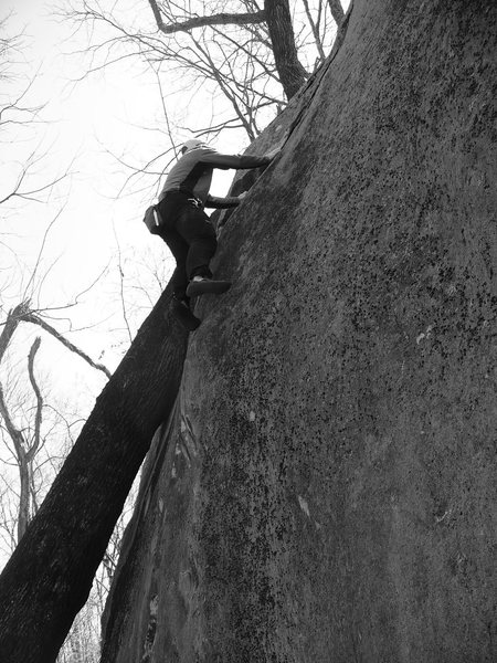 Rock Climbing Photo: Titantic V4, Rumbling Bald, NC