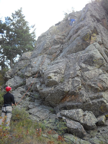 Rock Climbing Photo: The Rescue Route begins here 100 yards east of the...