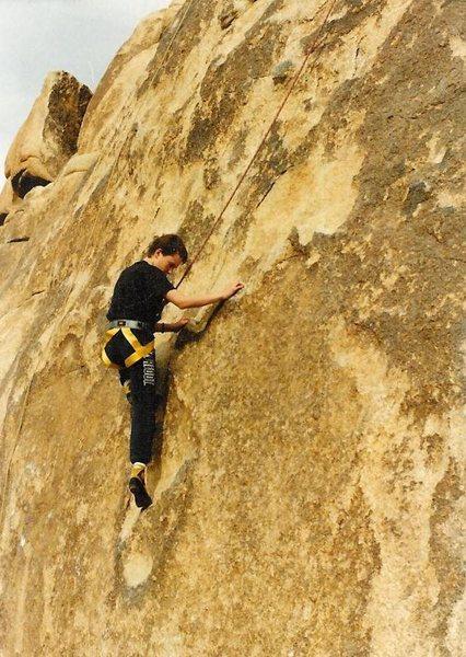 Rock Climbing Photo: Emil, working on Gotcha Bush on top rope.
