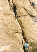 Rock Climbing Photo: My son on Double Crack.