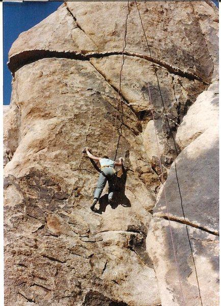 "Rock Climbing Photo: Anne Raubach toproping ""Black Eye,"" 5.9 ..."