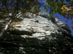 """Rock Climbing Photo: Andrew on the FA.  """"One pitch wonder"""" cl..."""