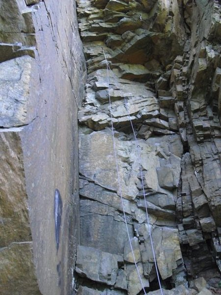 Start of Jenga, to blocky overhanging crux.