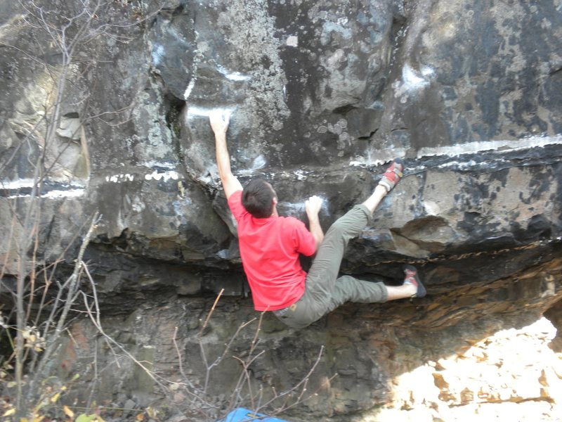 Rock Climbing Photo: Mid try