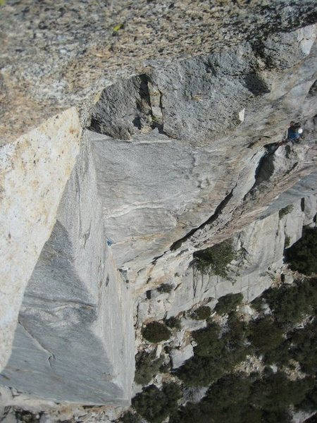 Rock Climbing Photo: Mechanics Route (5.8 R), Tahquitz, CA
