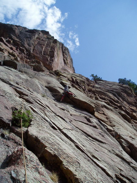 Rock Climbing Photo: The first ceiling is exciting but only about 5.8. ...