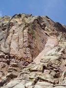 Rock Climbing Photo: The huecoed Mausoleum arete.