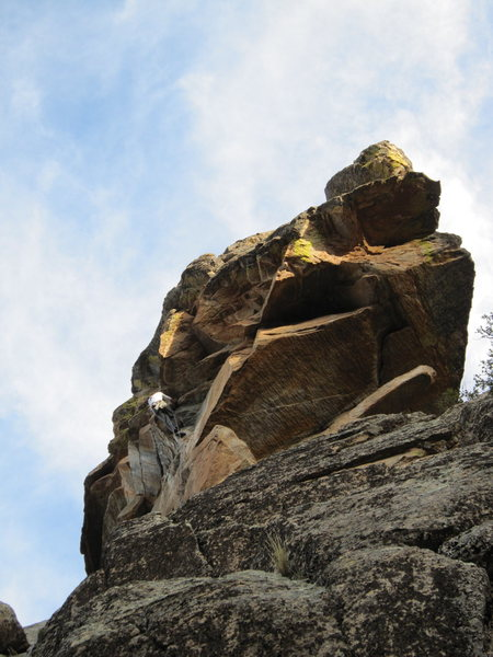 Rock Climbing Photo: Jimbo getting the onsight FA.