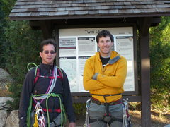 Rock Climbing Photo: Jon and I at the trailhead for Lumpy Ridge.