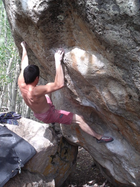 Rock Climbing Photo: Ian Dory on Supernatural, V9.