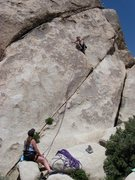 Rock Climbing Photo: Me leading Catch A Rising Star, Cap Rock
