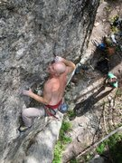 Rock Climbing Photo: Cranking through the hard stuff.  Photo by Jimbo, ...