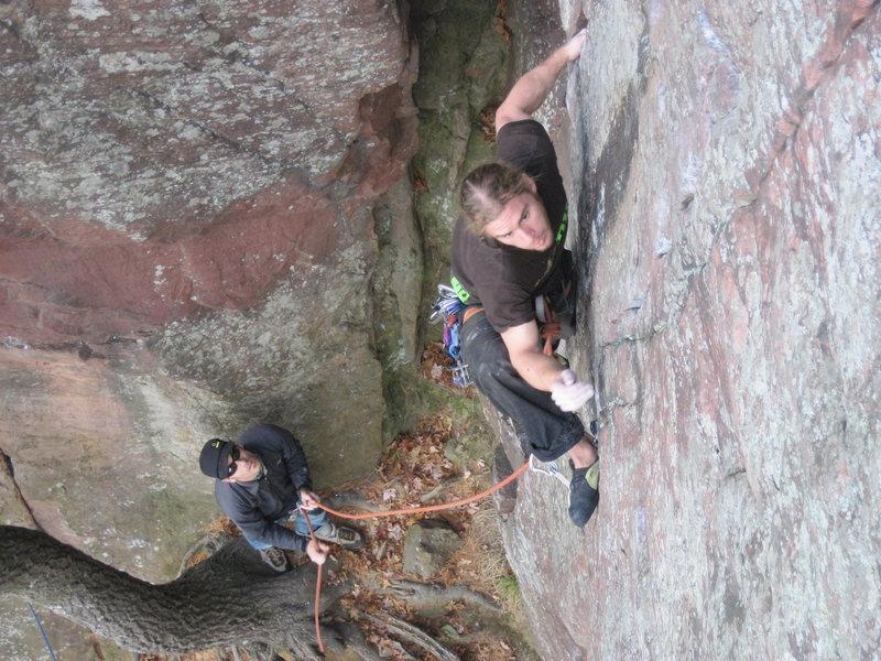 Rock Climbing Photo: Vin on lead.
