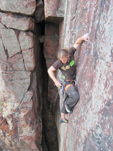 Vinny, of NU Climbing.