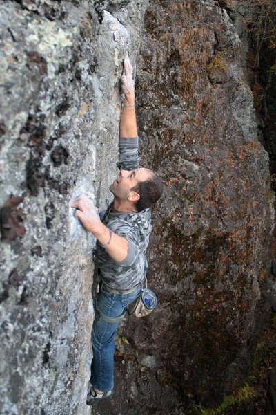 Jakob going for the last big move on the route!!! its crux time... get some!!!